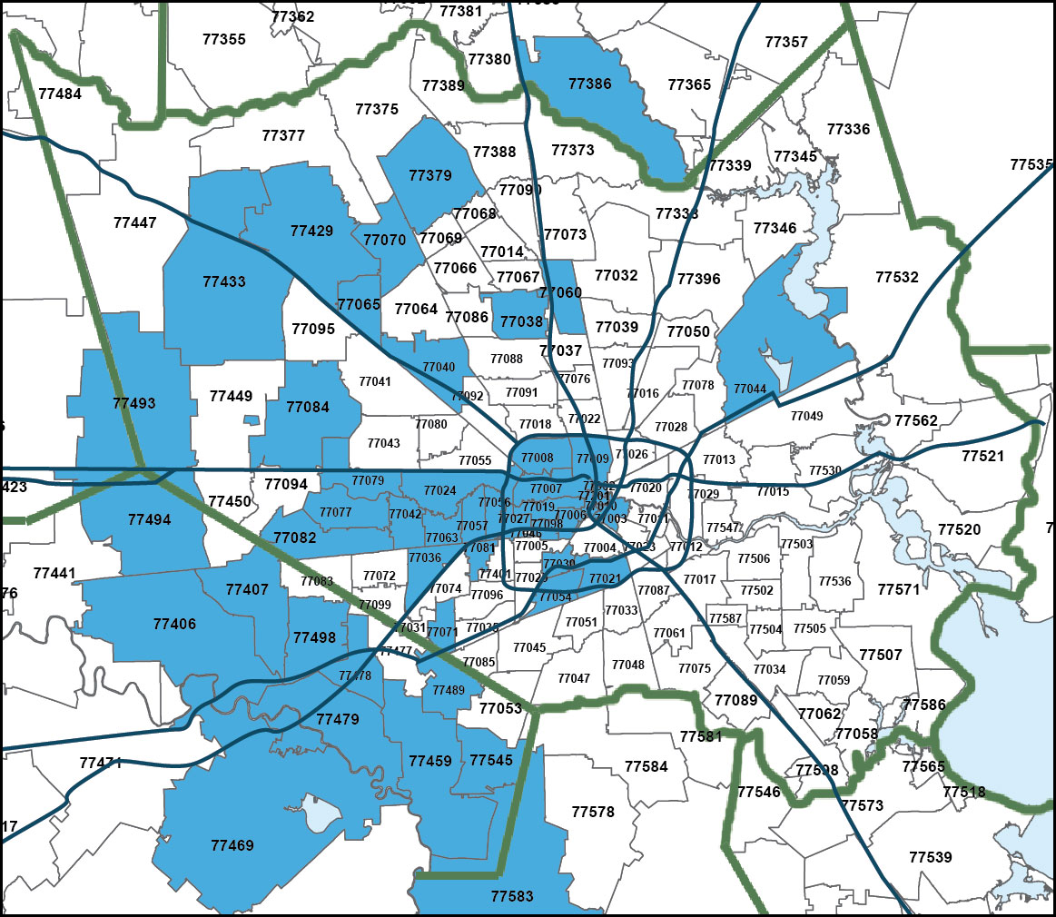 Harris-Fort Bend Interconnect Coverage Map